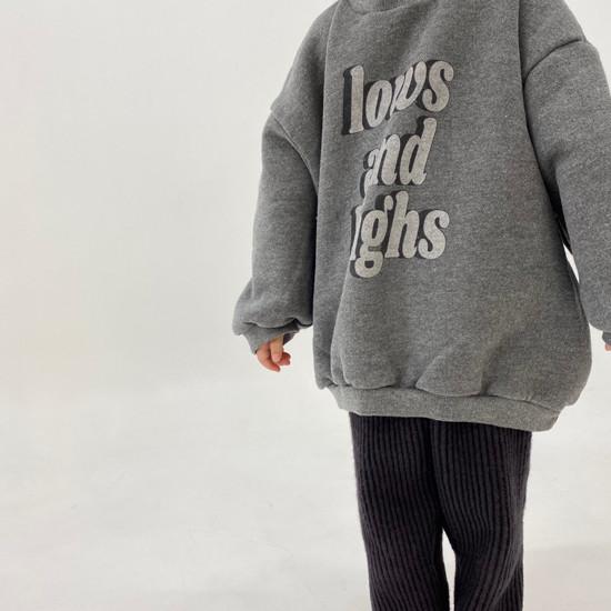 MELONSWITCH - Korean Children Fashion - #Kfashion4kids - High Long Sweatshirt - 2