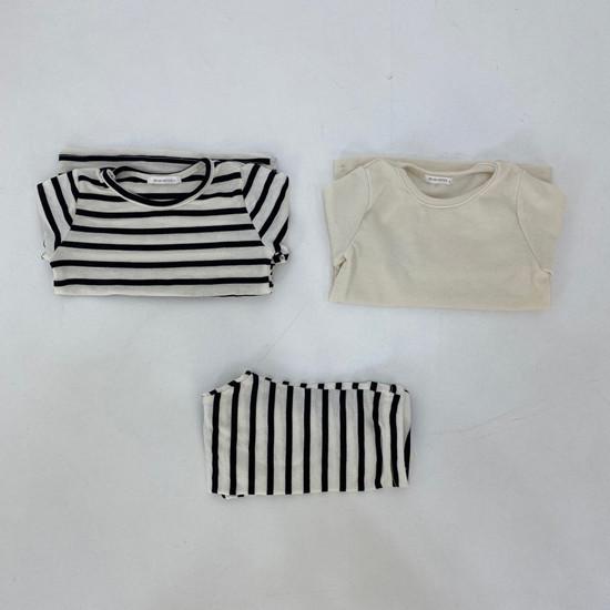 MELONSWITCH - Korean Children Fashion - #Kfashion4kids - Stripe 1+1 Tee - 11