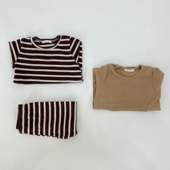 MELONSWITCH - Korean Children Fashion - #Kfashion4kids - Stripe 1+1 Tee - 12