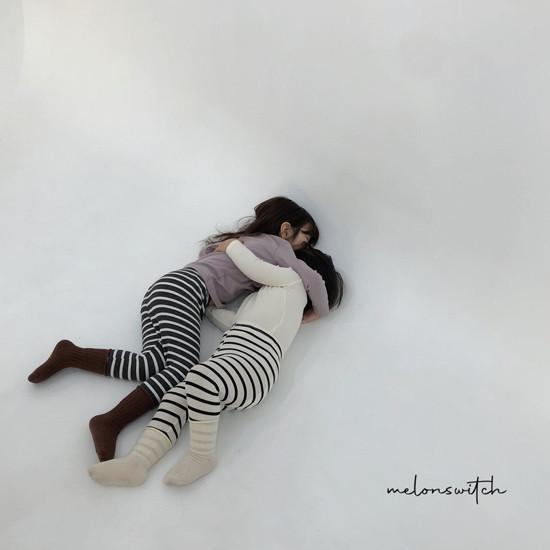MELONSWITCH - Korean Children Fashion - #Kfashion4kids - Stripe 1+1 Tee - 2