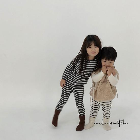 MELONSWITCH - Korean Children Fashion - #Kfashion4kids - Stripe 1+1 Tee - 3