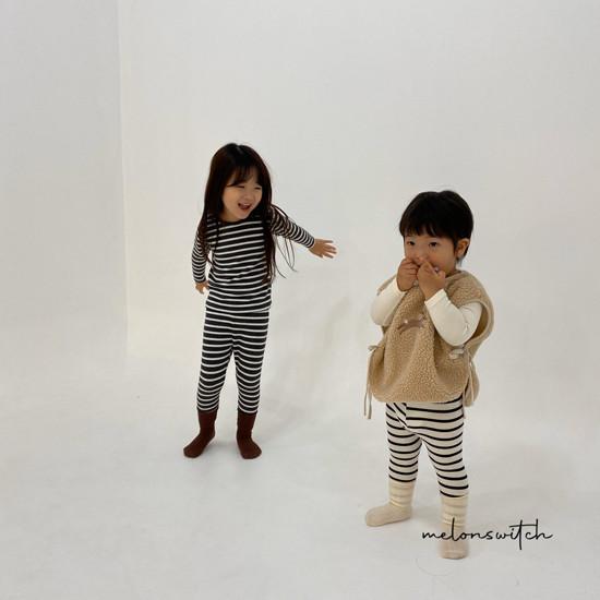 MELONSWITCH - Korean Children Fashion - #Kfashion4kids - Stripe 1+1 Tee - 4