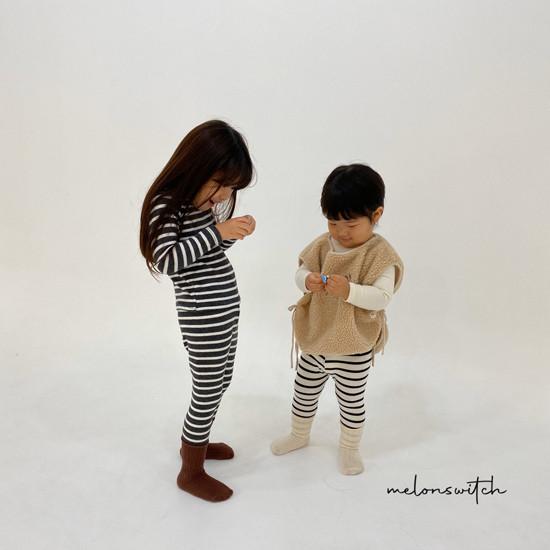 MELONSWITCH - Korean Children Fashion - #Kfashion4kids - Stripe 1+1 Tee - 5