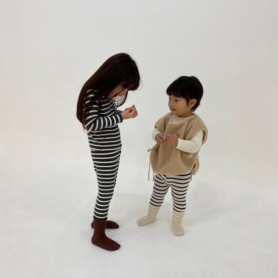 MELONSWITCH - Korean Children Fashion - #Kfashion4kids - Stripe 1+1 Tee - 7