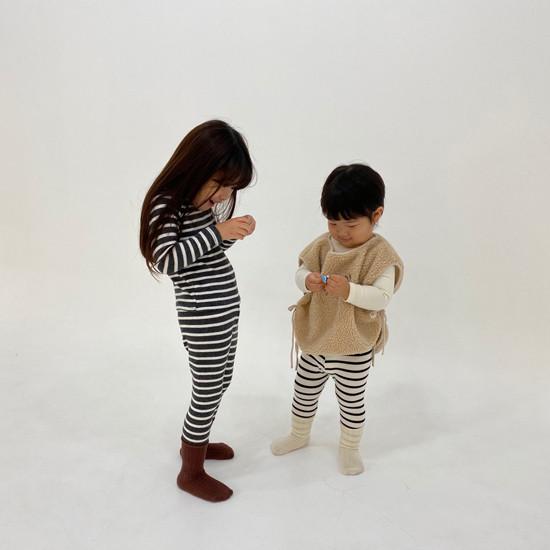 MELONSWITCH - Korean Children Fashion - #Kfashion4kids - Stripe 1+1 Tee - 8
