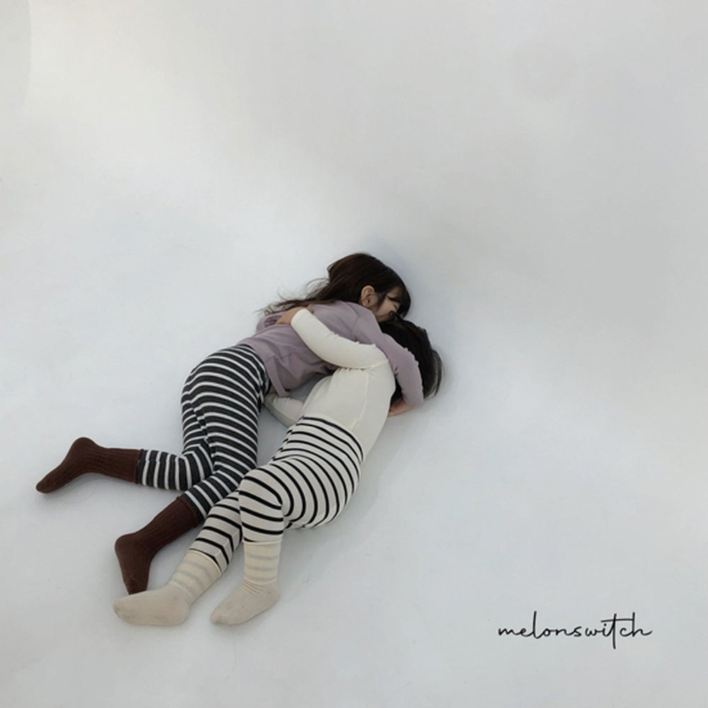 MELONSWITCH - BRAND - Korean Children Fashion - #Kfashion4kids - Stripe 1+1 Tee