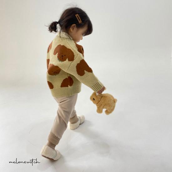 MELONSWITCH - Korean Children Fashion - #Kfashion4kids - Puppy Knit Cardigan - 10