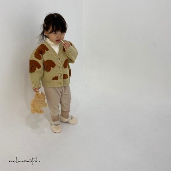 MELONSWITCH - Korean Children Fashion - #Kfashion4kids - Puppy Knit Cardigan - 12