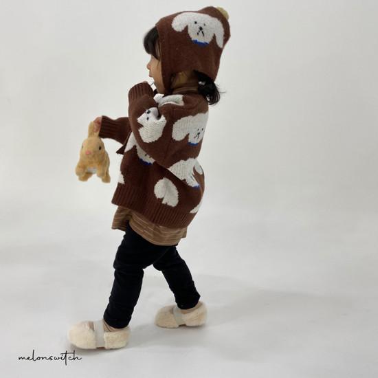 MELONSWITCH - Korean Children Fashion - #Kfashion4kids - Puppy Knit Cardigan - 2