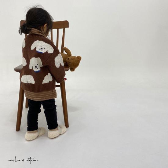 MELONSWITCH - Korean Children Fashion - #Kfashion4kids - Puppy Knit Cardigan - 3