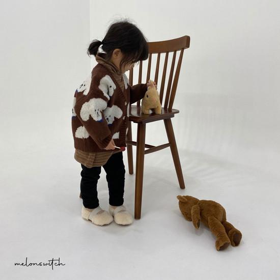 MELONSWITCH - Korean Children Fashion - #Kfashion4kids - Puppy Knit Cardigan - 4