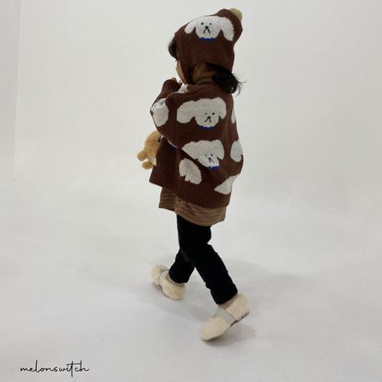 MELONSWITCH - Korean Children Fashion - #Kfashion4kids - Puppy Knit Cardigan - 6