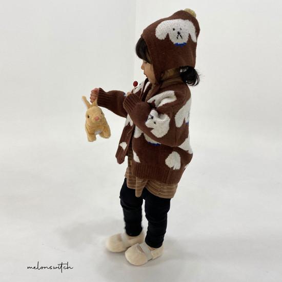 MELONSWITCH - Korean Children Fashion - #Kfashion4kids - Puppy Knit Cardigan - 7