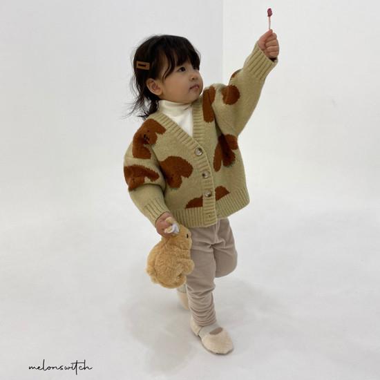 MELONSWITCH - Korean Children Fashion - #Kfashion4kids - Puppy Knit Cardigan - 8