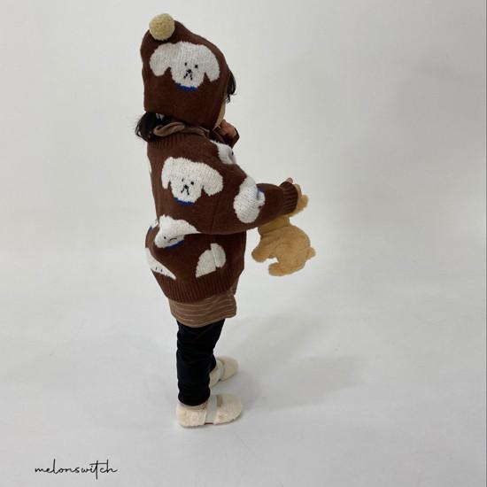 MELONSWITCH - Korean Children Fashion - #Kfashion4kids - Puppy Knit Cardigan - 9