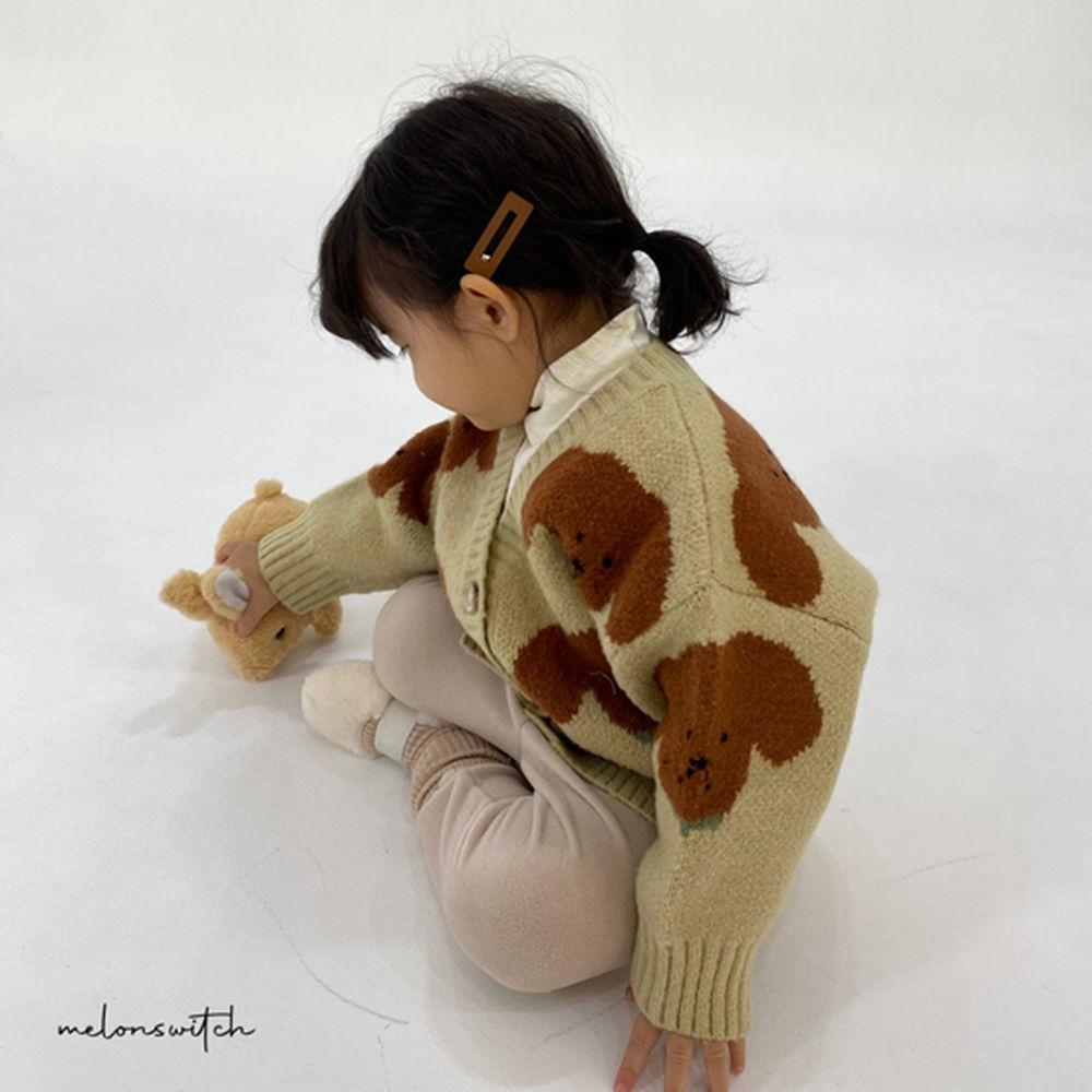 MELONSWITCH - BRAND - Korean Children Fashion - #Kfashion4kids - Puppy Knit Cardigan