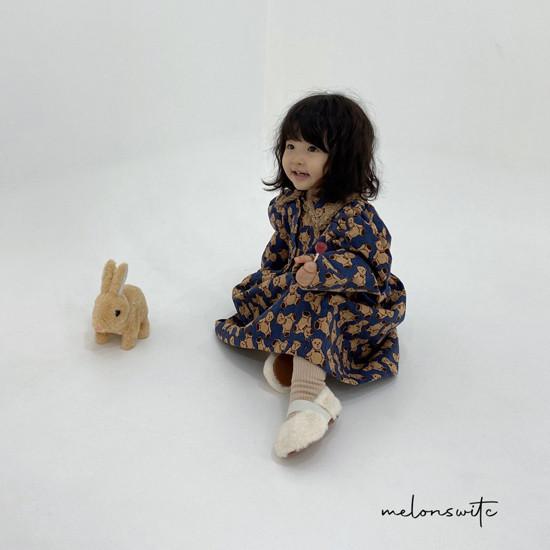 MELONSWITCH - Korean Children Fashion - #Kfashion4kids - Bear Cake Bonding One-piece - 10