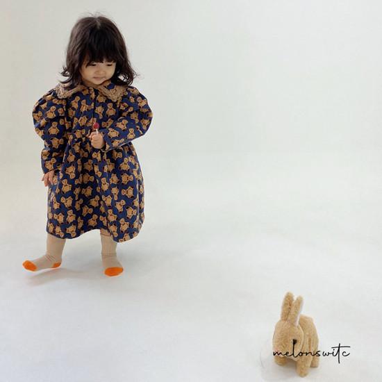 MELONSWITCH - Korean Children Fashion - #Kfashion4kids - Bear Cake Bonding One-piece - 11