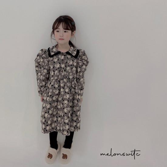 MELONSWITCH - Korean Children Fashion - #Kfashion4kids - Bear Cake Bonding One-piece - 2