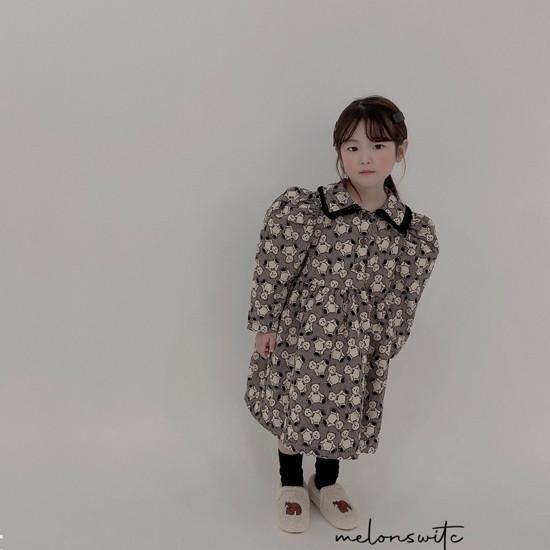 MELONSWITCH - Korean Children Fashion - #Kfashion4kids - Bear Cake Bonding One-piece - 5