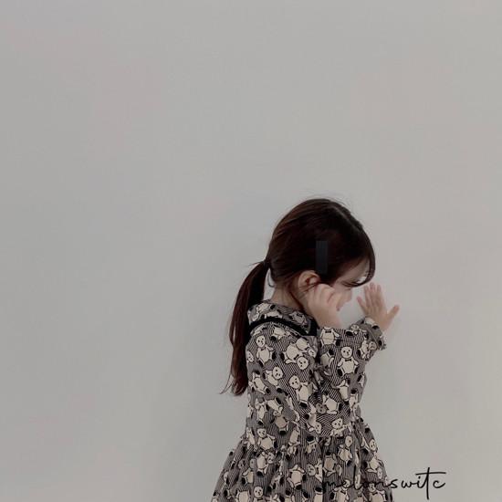 MELONSWITCH - Korean Children Fashion - #Kfashion4kids - Bear Cake Bonding One-piece - 6