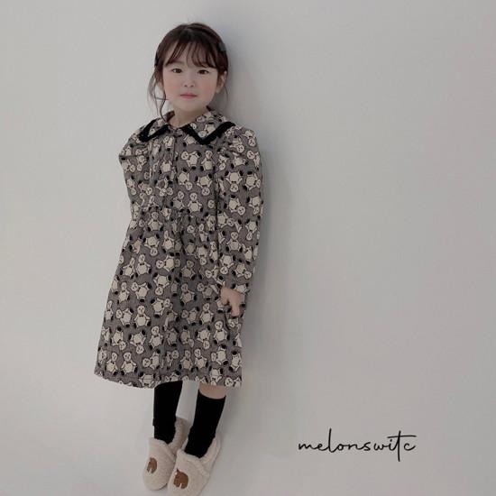 MELONSWITCH - Korean Children Fashion - #Kfashion4kids - Bear Cake Bonding One-piece - 7