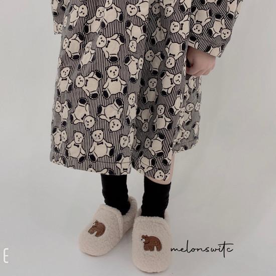 MELONSWITCH - Korean Children Fashion - #Kfashion4kids - Bear Cake Bonding One-piece - 8