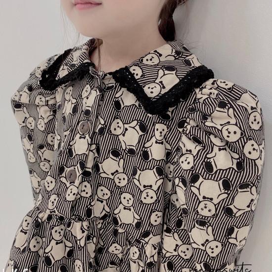 MELONSWITCH - Korean Children Fashion - #Kfashion4kids - Bear Cake Bonding One-piece - 9