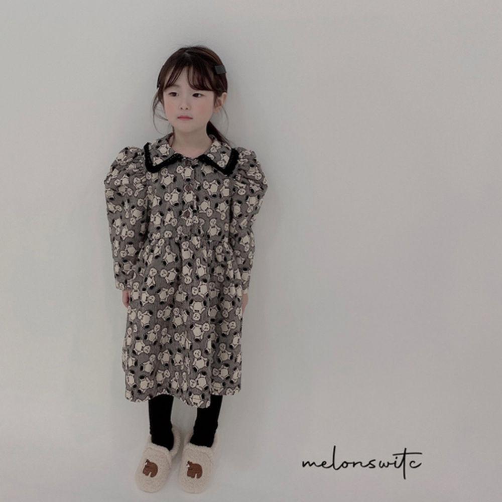 MELONSWITCH - BRAND - Korean Children Fashion - #Kfashion4kids - Bear Cake Bonding One-piece