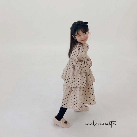 MELONSWITCH - Korean Children Fashion - #Kfashion4kids - Dot Puff Corduroy One-piece - 7