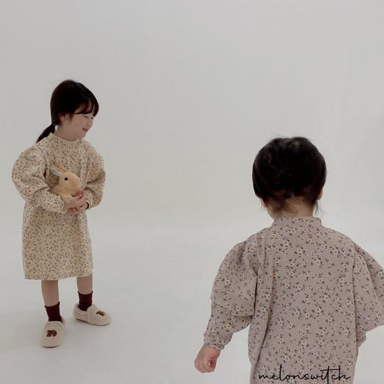 MELONSWITCH - Korean Children Fashion - #Kfashion4kids - Alice Puff One-piece - 3