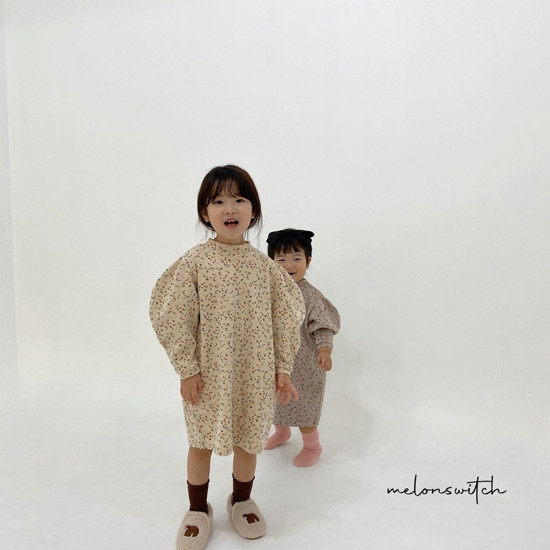 MELONSWITCH - Korean Children Fashion - #Kfashion4kids - Alice Puff One-piece - 6