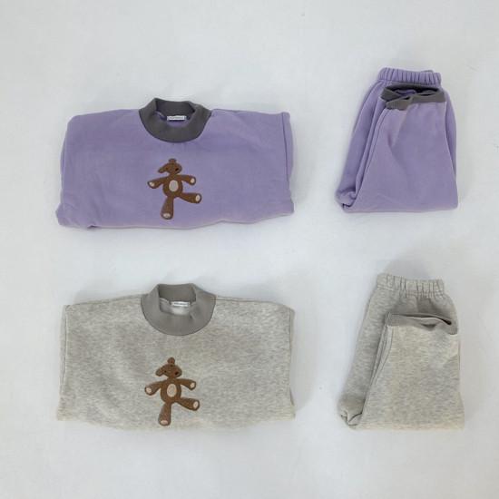MELONSWITCH - Korean Children Fashion - #Kfashion4kids - Bear Top Bottom Set