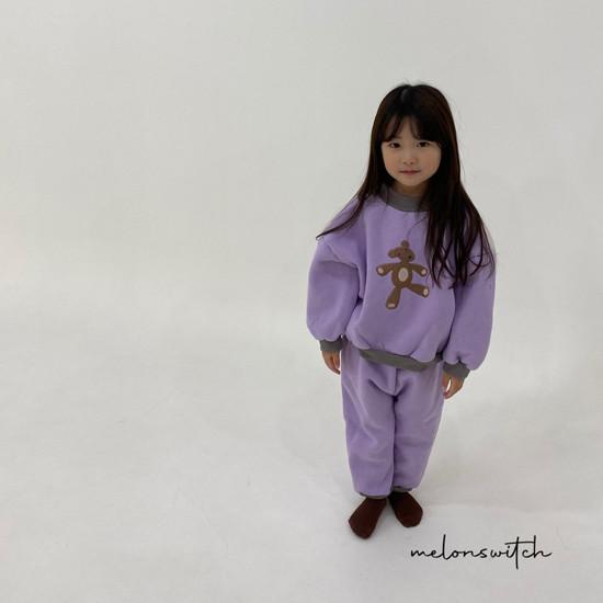 MELONSWITCH - Korean Children Fashion - #Kfashion4kids - Bear Top Bottom Set - 2