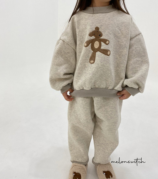 MELONSWITCH - Korean Children Fashion - #Kfashion4kids - Bear Top Bottom Set - 4