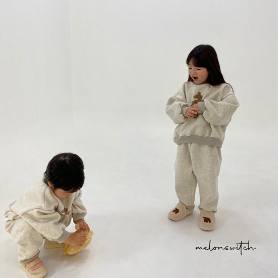 MELONSWITCH - Korean Children Fashion - #Kfashion4kids - Bear Top Bottom Set - 5