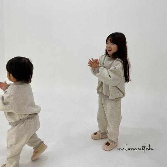 MELONSWITCH - Korean Children Fashion - #Kfashion4kids - Bear Top Bottom Set - 6