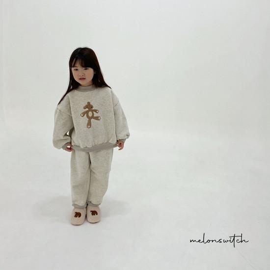 MELONSWITCH - Korean Children Fashion - #Kfashion4kids - Bear Top Bottom Set - 7