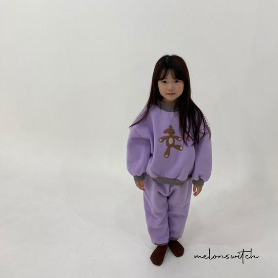 MELONSWITCH - Korean Children Fashion - #Kfashion4kids - Bear Top Bottom Set - 9