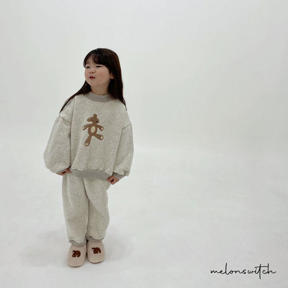 MELONSWITCH - BRAND - Korean Children Fashion - #Kfashion4kids - Bear Top Bottom Set