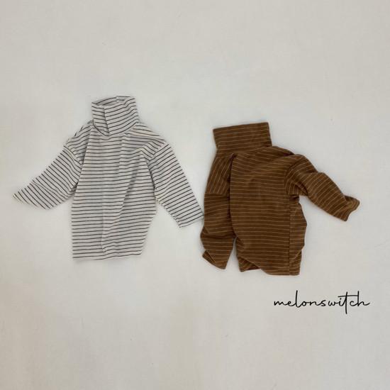 MELONSWITCH - Korean Children Fashion - #Kfashion4kids - Whipping Cream Turtleneck Tee