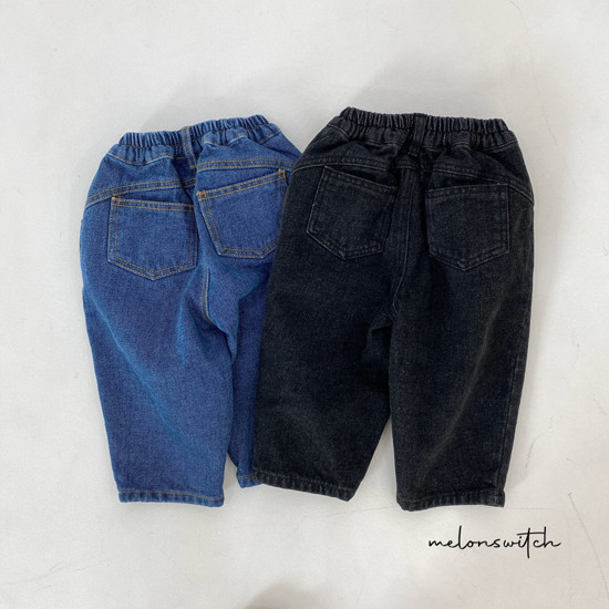 MELONSWITCH - Korean Children Fashion - #Kfashion4kids - Dell Fit Fleeced Denim Pants - 10