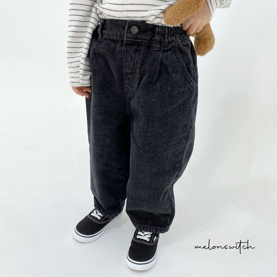 MELONSWITCH - Korean Children Fashion - #Kfashion4kids - Dell Fit Fleeced Denim Pants - 3