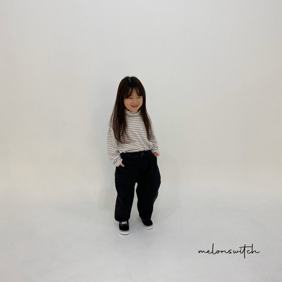 MELONSWITCH - Korean Children Fashion - #Kfashion4kids - Dell Fit Fleeced Denim Pants - 6