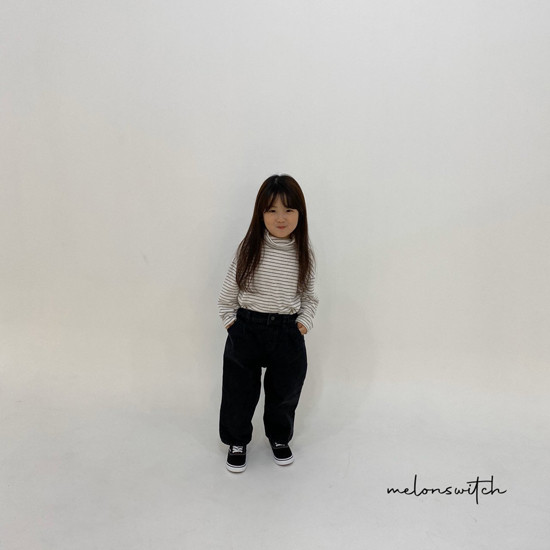 MELONSWITCH - Korean Children Fashion - #Kfashion4kids - Dell Fit Fleeced Denim Pants - 8