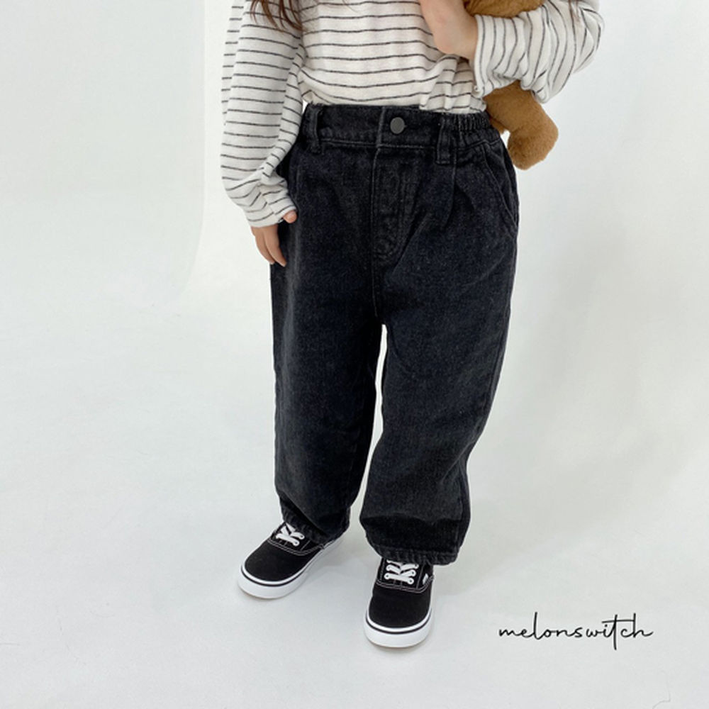 MELONSWITCH - BRAND - Korean Children Fashion - #Kfashion4kids - Dell Fit Fleeced Denim Pants