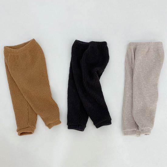 MELONSWITCH - Korean Children Fashion - #Kfashion4kids - Fleeced Stretchy Pants