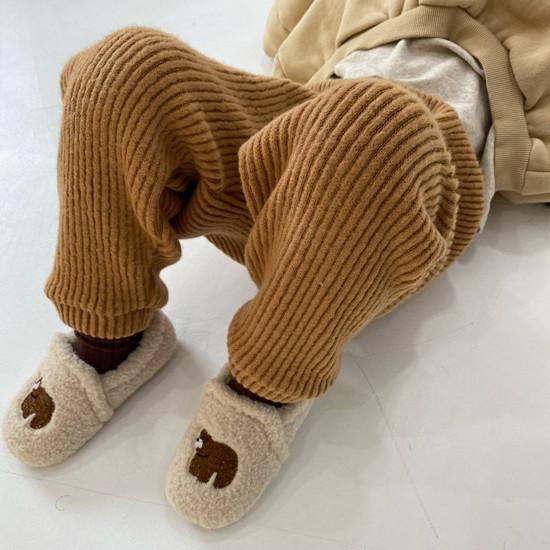 MELONSWITCH - Korean Children Fashion - #Kfashion4kids - Fleeced Stretchy Pants - 2