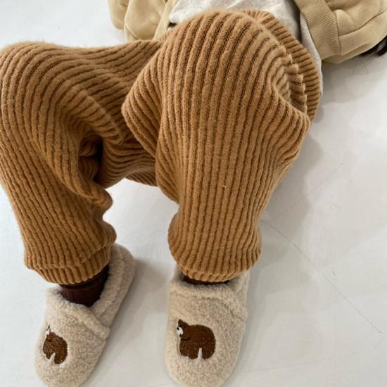 MELONSWITCH - Korean Children Fashion - #Kfashion4kids - Fleeced Stretchy Pants - 3