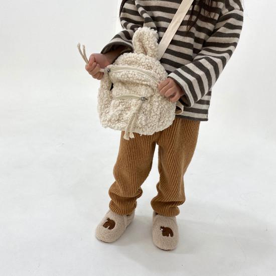 MELONSWITCH - Korean Children Fashion - #Kfashion4kids - Fleeced Stretchy Pants - 4